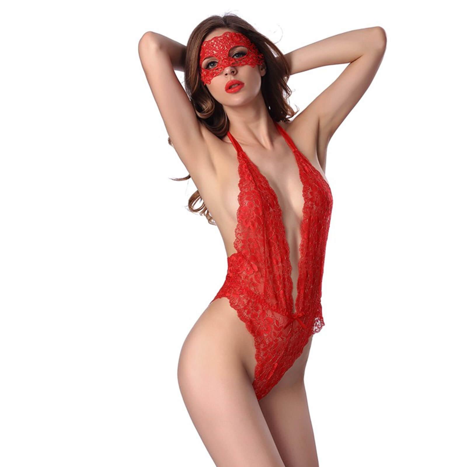 Lendgogo Sexy Lingerie Lace Bodysuit