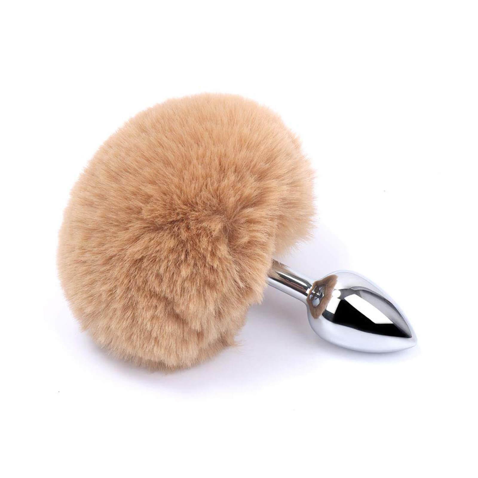 HIJUNMI Fluffy Bunny Tail Anal Plug