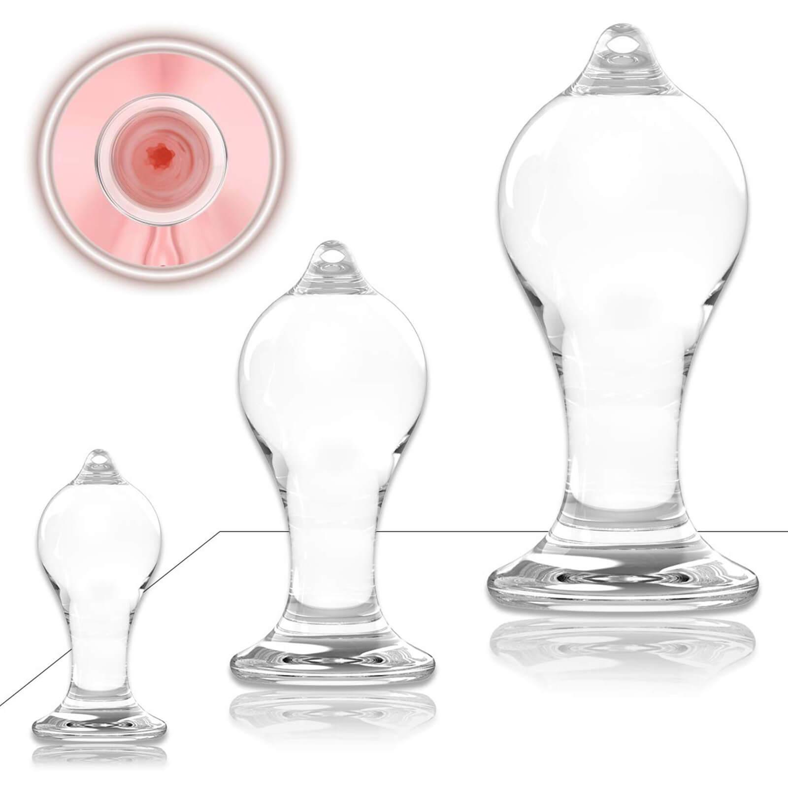 Hitinight Transparent Crystal Anal Plugs Trainer Kit